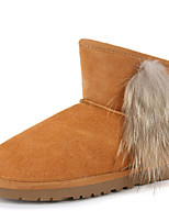 Women's Shoes Suede Flat HeelCowboy / Western Boots / Snow Boots / Riding Boots / Fashion Boots / Motorcycle Boots