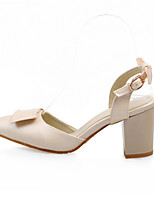 Women's Shoes Leatherette Chunky Heel Ankle Strap / Styles / Open Toe Sandals Outdoor / Casual Blue / Pink / Beige