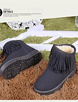 Women's Shoes Low Heel Round Toe Boots Casual Black / Gray / Khaki