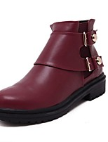 Women's Shoes  Chunky Heel Combat Boots / Round Toe Boots Outdoor / Casual Black / Red