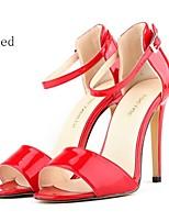 Women's Shoes Leatherette Stiletto Heel Heels Sandals Party/More Colors