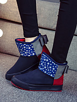 Women's Shoes Fleece Platform Snow Boots / Fashion Boots / Slip-on Outdoor / Casual Black / Dark Blue / Brown