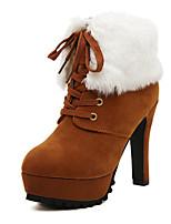 Women's Shoes Chunky Heel Comfort Boots Outdoor Black / Brown