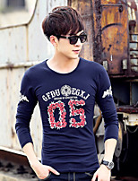 Men's Sleeve Length Tops Type , Fabric Occasion Pattern