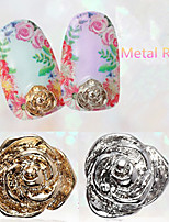 5PCS  Rose  Metal Nail Jewelry