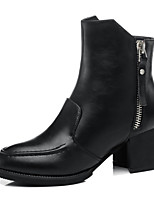 Women's Shoes Synthetic Chunky Heel Snow Boots / Motorcycle Boots / Combat Boots Boots Dress / Casual Black / Red