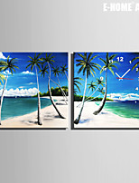 Quadrato Moderno/Contemporaneo Orologio da parete , Altro Tela40 x 40cm(16inchx16inch)x2pcs/ 50 x 50cm(20inchx20inch)x2pcs/ 60 x