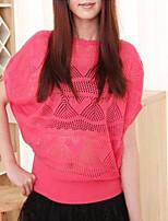 Damen Pullover  -  Leger Strickware Undurchsichtig Kurzarm