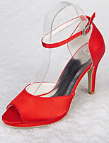 Women's Shoes Satin Stiletto Heel Heels / Peep Toe / Platform Sandals Wedding / Office & Career / Party & Evening