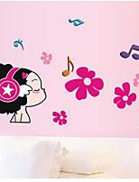 Botanique / Musique / Mode / Personnes Stickers muraux Stickers avion , PVC 50cm*70cm
