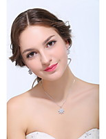 Women's Silver / Alloy Jewelry Set Rhinestone / Cubic Zirconia