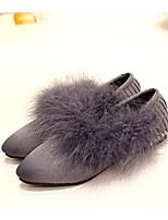 Women's Shoes Suede Flat Heel Ballerina Flats Casual Black / Gray