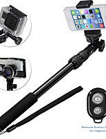 Sinnofoto S3 Extendable Selfie stick Wireless Shutter Monopod for Gopro/Android/IOS Mobile Phone
