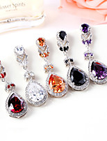 Gorgeous Alloy With Czech Rhinestones Teardrop Wedding Earrings Bridal Earrings More Colors (with Gift Box)