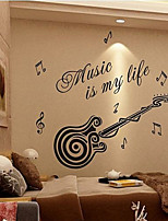 Musique / Mode Stickers muraux Stickers avion , PVC 64cm*80cm