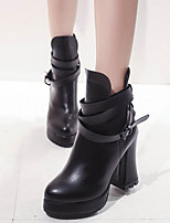 Women's Shoes New Arrival Europe Style Chunky Heel Fashion Boots / Comfort Boots Dress Black / Red