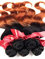 onda corpo malásia dois tons de cabelo humano 1pcs não transformados T1b / 30 Malásia ombre virgens tramas do cabelo 50g / pcs