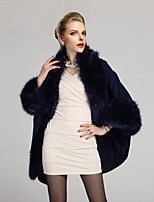 Women's Fashion Plus Size Thick Faux Fur Outerwear/Top , Lined
