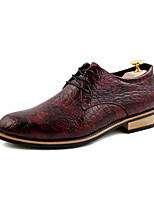 Hot Sale  Men's Shoes Wedding / Office & Career / Party & Evening Leather Oxfords Black / Red