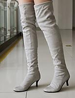 Chaussures Femme - Extérieure / Bureau & Travail / Décontracté - Noir / Marron / Gris - Talon Aiguille - Talons / Bout Arrondi - Bottes -