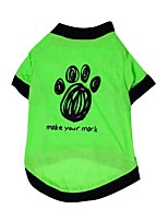 Gatti / Cani T-shirt Verde Estate / Primavera/Autunno Floral / botanico Di tendenza-Pething®, Dog Clothes / Dog Clothing
