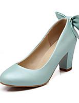 Women's Shoes Chunky Heel Comfort / Round Toe Heels Outdoor / Office & Career / Dress Blue / Pink / White / Beige