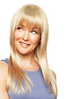 Charming Glossy Straight Human Hair Capless Virgin Remy Mono Top Long Woman's Wig