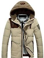 Men's Regular Parka Coat , Nylon Pure Long Sleeve
