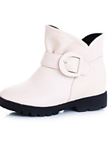 Women's Shoes Leatherette Low Heel Round Toe / Closed Toe Boots Office & Career / Dress / Casual Black / Brown / Beige