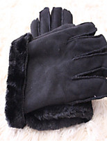 Imitation Fur One Warm Winter Gloves Motorcycle Clear Protective Gloves