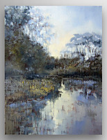 Oil Painting  Impression Landscape of Morning  Hand Painted Canvas with Stretched Framed Ready to Hang