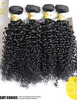 4pcs sacco malese profonda capelli ricci capelli umani vergini non trattati tesse economici estensioni dei capelli ricci crespi dell'onda