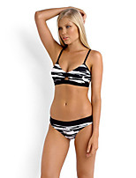 De las mujeres Bikini - Monocolor Push-Up - Halter - Poliéster