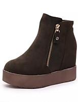 Women's  Wedge Heel Round Toe / Closed Toe Boots