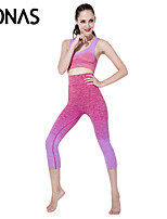 Polyester Seamless Yoga Leggings Fitness for Women Rose Red Soft Sportswear Set Hot Selling Styles in 2015