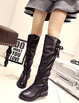 Women's Korean Style Shoes Flat Heel Fashion Leisure Comfort Boots Dress / Casual Black / Brown / White