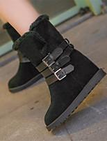 Women's Shoes Low Heel Round Toe Boots Casual Black / Beige / Burgundy