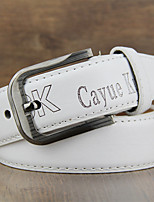Unisex Calfskin Waist Belt , Vintage / Casual Gold