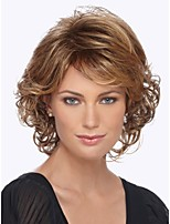 Fashion Lady Short Brown Blonde Mixed Curly Cosplay Side Wigs