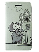 Cartoon Elephant and Dandelion Pattern PU Leather Flip Case for iPhone 7 7 Plus 6s 6 Plus SE 5s 5c 5