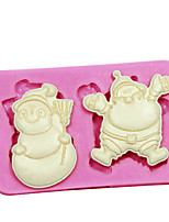 Fondant Cake Decorating Tools Christmas Themed Tree Santa Claus Snowman Silicone Soap Mold For Candy Chocolate