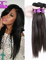 cheveux de vierge de trames brésiliennes de couleur naturelle droite tissage de cheveux humains en stock