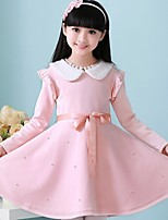 Girl's Pink Dress , Dresswear Polyester Winter