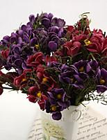 seda / otros plásticos flores artificiales 6pcs / set