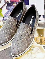 Women's Shoes Suede Flat Heel Pointed Toe Loafers Casual Black / Gray