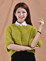Fashion Women`s Solid Fabric Cotton Collar Crystal Clip Decoration Cravat & Ascot Joker Daily/Casual