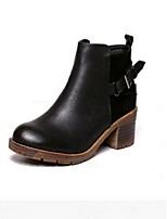 Women's Shoes  Chunky Heel Fashion Boots Boots Casual Black / Blue / Brown