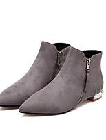 Zapatos de mujer - Tacón Plano - Botas Anfibias / Botas de Nieve / Botines / Punta Cerrada / Botas de Equitación - Botas -Exterior /