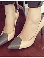Women's Shoes  Stiletto Heel Pointed Toe Heels Casual Pink / White