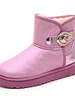 Women's Shoes Low Heel Round Toe Boots Casual Pink / Silver / Gold